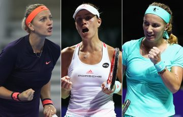 Petra Kvitova (L) and Svetlana Kuznetsova (R) will join Angelique Kerber at Apia International Sydney in 2017; Getty Images