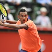 Nick Kyrgios in action at the Japan Open Tennis Championships in Tokyo; Getty Images