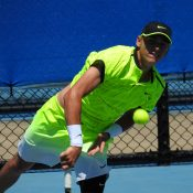 Max Purcell in action at the Toowoomba Pro Tour event in 2016; Tennis Australia