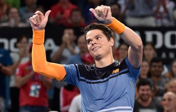 Milos Raonic, pictured here winning Brisbane International 2016, is returning for 2017; Getty Images