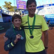 65+ Silver Mixed Doubles, Wendy Gilchrist and Peter Jenkins