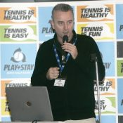 Tennis play and Stay Seminar at the Queens Club Dave Miley of ITF at  the  at Queens Club London England  26th February 2007  pic Tommy Hindley/Professional Sport
