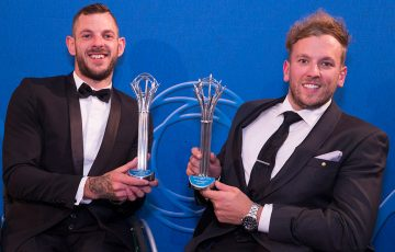 Most Outstanding Athlete with a Disability - Heath Davidson (L) and Dylan Alcott; Fiona Hamilton