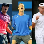 (L-R) Omar Jasika, Marc Polmans and Alex De Minaur; Getty Images