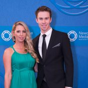 Australian doubles star and Newcombe Medal finalist John Peers with wife Danielle; photo credit Fiona Hamilton