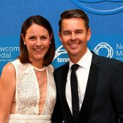 Australian doubles legend Todd Woodbridge with wife Natasha; Getty Images