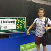 James Duckworth was a winner at the ATP Challenger in Toyota; photo credit Toyota Challenger