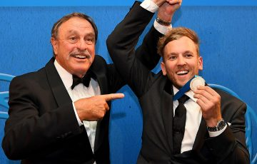 2016 Newcombe Medallist Dylan Alcott (R) wht John Newcombe; Getty Images