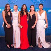 Australian teenaged talents (L-R) Jaimee Fourlis, Maddison Inglis, Lizette Cabrera, Kimberly Birrell and Priscilla Hon; photo credit Fiona Hamilton