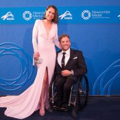 Quad world No.1 and two-time Rio Paralympic gold medallist Dylan Alcott with girlfriend Kate Lawrance; photo credit Fiona Hamilton