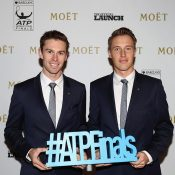 John Peers (L) and Henri Kontinen at a pre ATP Finals function at London's Cutty Sark; Getty Images