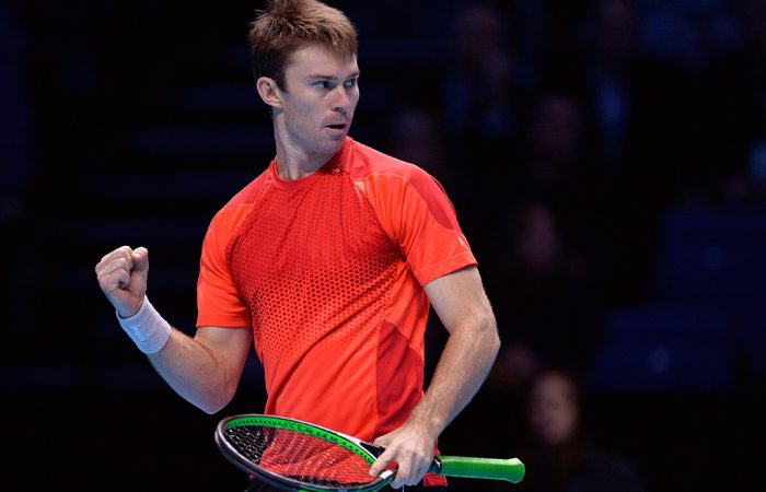John Peers in action at the ATP World Tour Finals in London; Getty Images