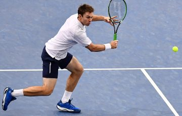 John Peers in action at the Paris Masters; Getty Images