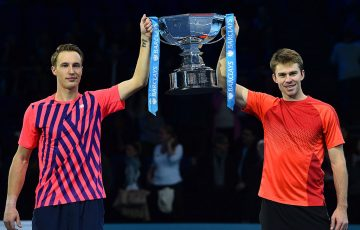 John Peers (R) and Henri Kontinen were the winners of the 2016 ATP World Tour Finals; Getty Images