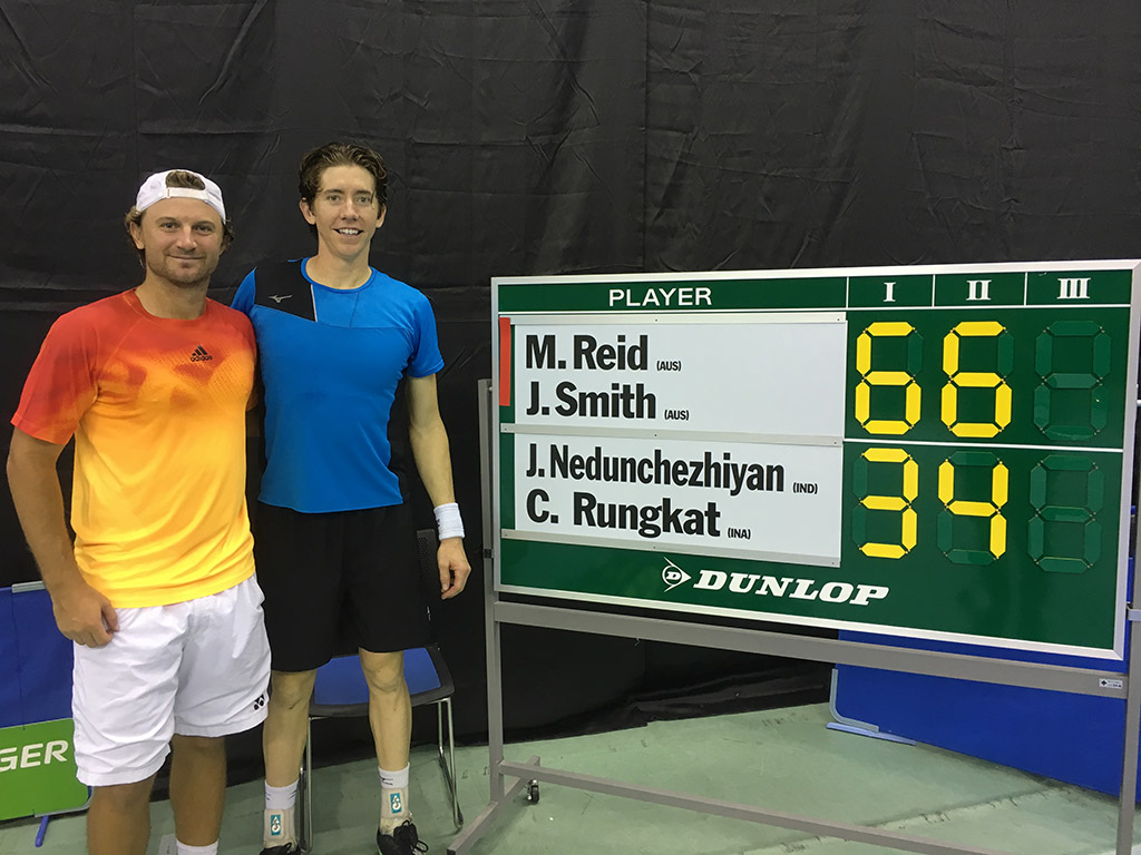 Matt Reid (L) and John-Patrick Smith were winners at the ATP Challenger in Toyota; photo credit Toyota Challenger