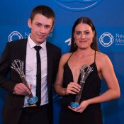Junior Athletes of the Year - Alex De Minaur (L) and Kimberly Birrell; Fiona Hamilton