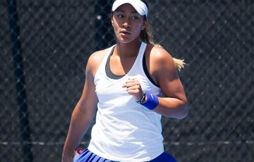 Destanee Aiava in action at the 18/u Australian Championships at Melbourne Park; Elizabeth Xue Bai