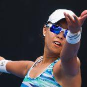 Alison Bai in action during the Australian Open Play-off; photo credit Elizabeth Xue Bai