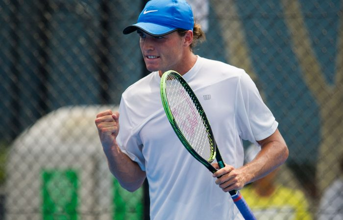 Chris O'Connell in action during the Australian Open Play-off; photo credit Elizabeth Xue Bai
