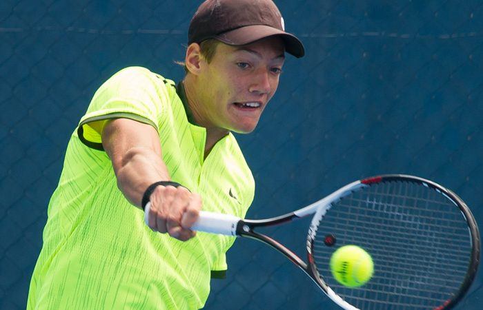 No.2 seed Matthew Dellavedova is through to the semifinals of the boys' 16/u Australian Championships; photo credit Elizabeth Xue Bai