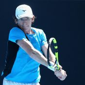 John-Patrick Smith in action at the Australian Open Play-off; Getty Images