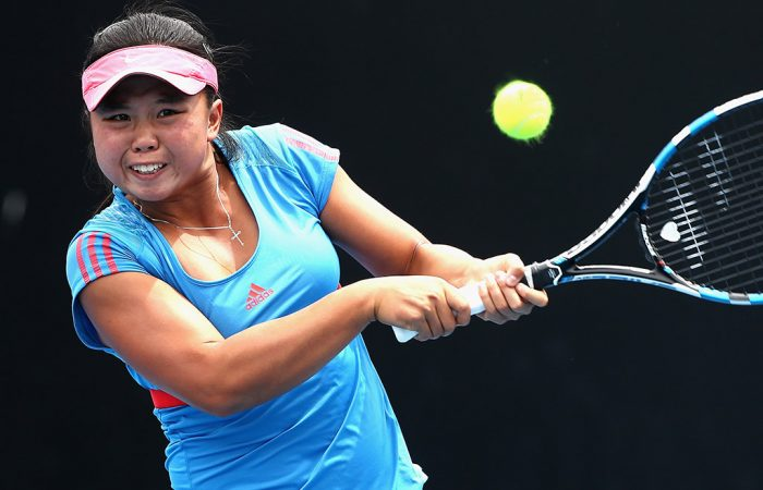Olivia Tjandramulia in action during the Australian Open Play-off; Getty Images