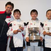 Japan won the Rod Laver Cup 12/u boys' teams event; Elizabeth Xue Bai