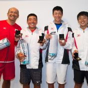 Japan's boys' team finished runner-up in the 14/u Sproule Stephens Cup at the December Showdown; Elizabeth Xue Bai