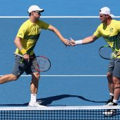 Groth and Peers broke early in the opening set to stamp their authority on the match. Photo: Getty Images