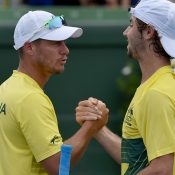 It was a near-perfect weekend for both Lleyton Hewitt and Jordan Thompson. Photo: Getty Images