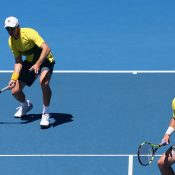 Groth and Peers were always in control of the match. Photo: Getty Images