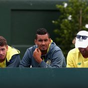Nick Kyrgios led the applause for his teammate. Photo: Getty Images