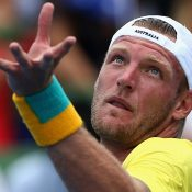 Sam Groth served for the match in the second set. Photo: Getty Images