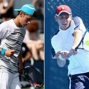 Alex De Minaur (L) and Andrew Whittington have been awarded Australian Open 2017 main-draw wildcards; Getty Images