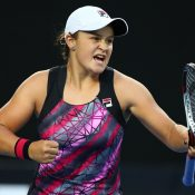 Ashleigh Barty in action at the Australian Open