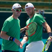 John Peers and Sam Groth will team up for the Aussies. Photo: Elizabeth Xue Bai