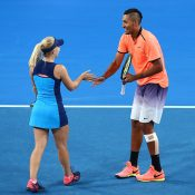 Daria Gavrilova (L) and Nick Kyrgios represent Australia at Hopman Cup 2017 in Perth; Getty Images