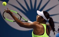 Destanee Aiava in action against Bethanie Mattek-Sands in the first round of the Brisbane International; Getty Images