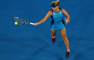 Daria Gavrilova in action at Hopman Cup 2017; Getty Images