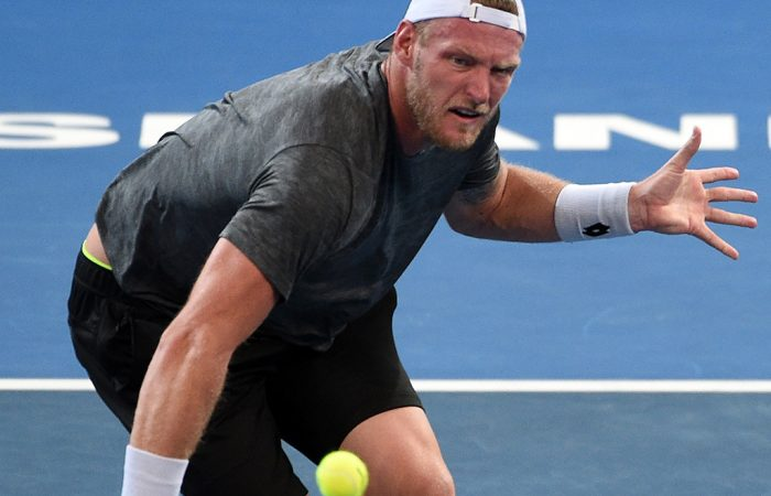 Sam Groth was beaten in straight sets by Dominic Thiem. Photo: Getty Images