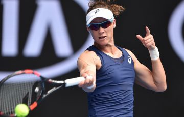 Samantha Stosur in action at Australian Open 2017.