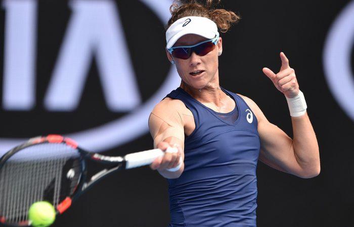 Samantha Stosur in action at Australian Open 2017.