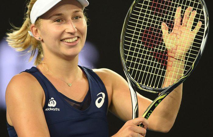 Daria Gavrilova got off to a winning start at Australian Open 2017. Photo: Getty Images