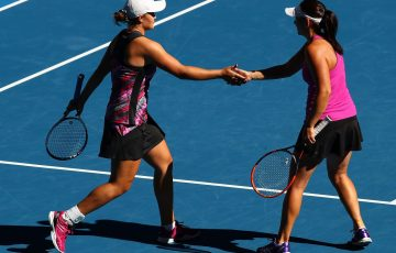 Ashleigh Barty and Casey Dellacqua reached the quarter-finals at Melbourne Park.
