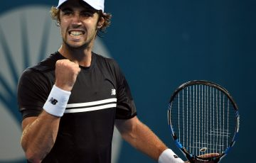 Australia's Jordan Thompson has reached the Apia International Sydney second round.