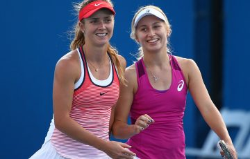 Daria Gavrilova (R) and Elina Svitolina will be the top-ranked players heading the Australian and Ukrainian teams respectively in Fed Cup in Kharkiv; Getty Images