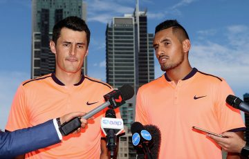 Nick Kyrgios (R) and Bernard Tomic; Getty Images