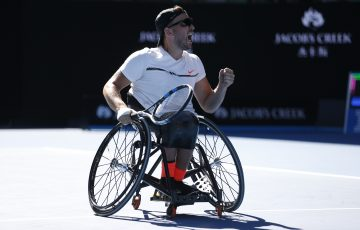 Dylan Alcott v Andy Lapthorne, F, Rod Laver Arena, Day 13, 28 January 2017