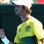 Jordan Thompson hands Australia a winning start. Photo: Getty Images