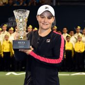 Barty with her first WTA trophy. Photo: Getty Images